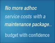 Find out more about our maintenance
